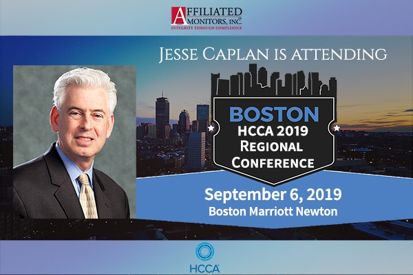 Promotional image for Jesse Caplan's upcoming visit to the HCCA Regional Conference