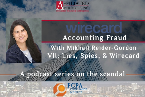 Promotional image for Mikhail Reider-Gordon's 7th Wirecard podcast episode