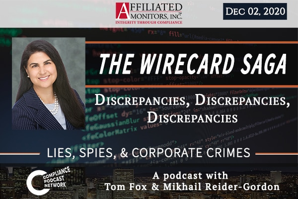 Promotional image for Mikhail Reider-Gordon's Wirecard 12/2/20 podcast episode