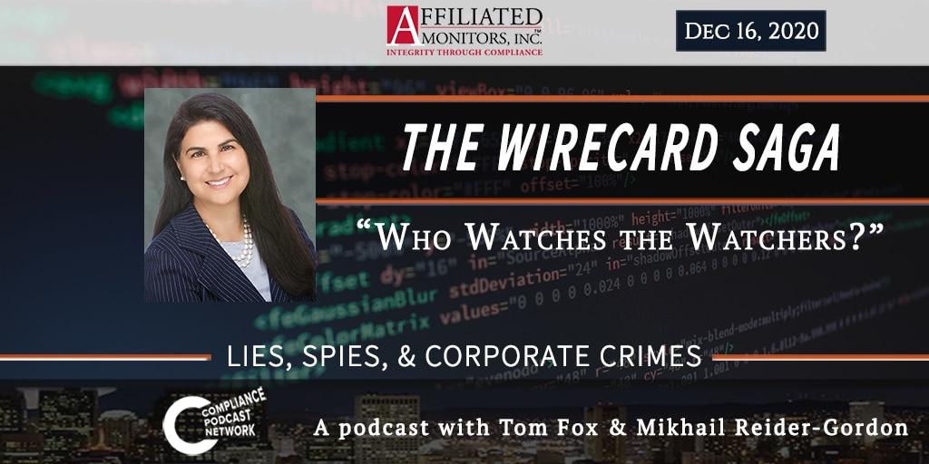 Promotional image for Mikhail Reider-Gordon's Wirecard podcast episode