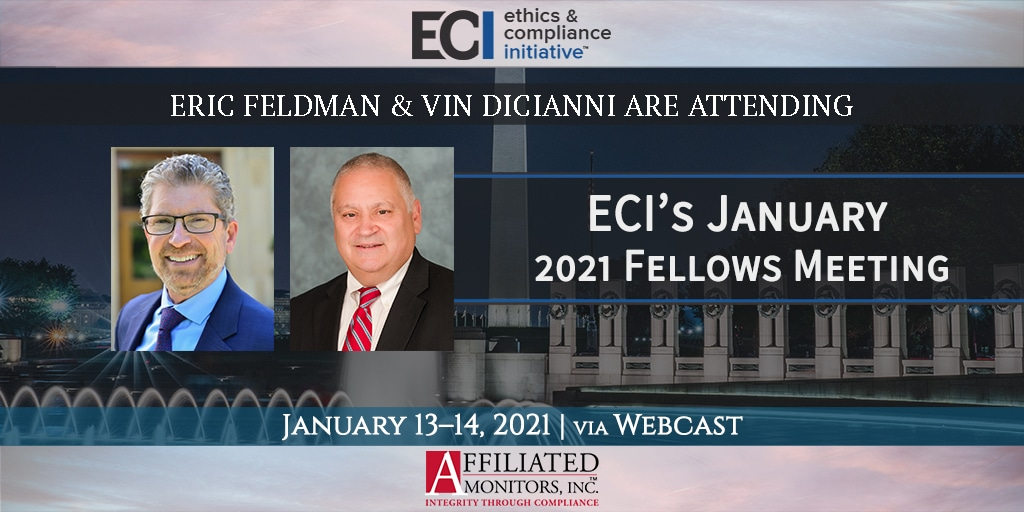 Promotional image for Eric Feldman and Vin DiCianni's attendance at an upcoming ECI conference
