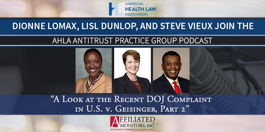 Dionne Lomax, Lisl Dunlop, and Steve Vieux promotional image for their AHLA Podcast