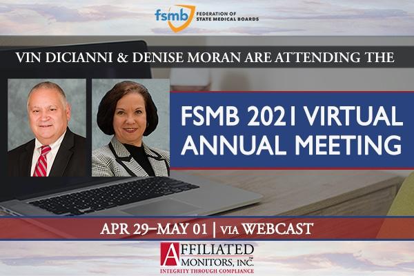 Vin DiCianni and Denise Moran for FSMB 2021
