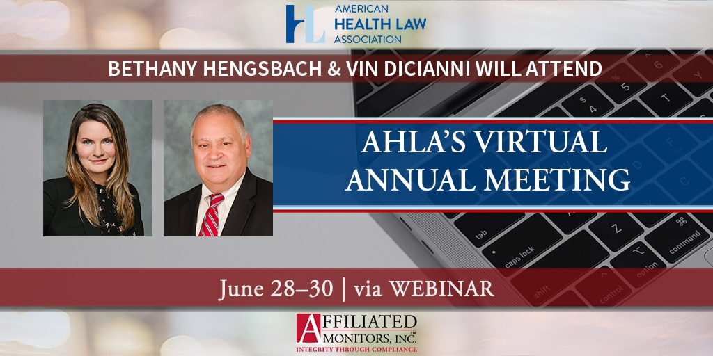 Bethany Hengsbach and Vin DiCianni Will Attend AHLA's Virtual Annual Meeting — June 28–30