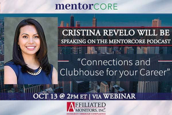 Cristina Revelo Will Be Speaking on The MentorCore Podcast