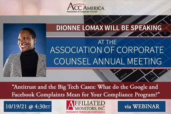 Dionne Lomax Will Be Speaking at the Association of Corporate Counsel Annual Meeting