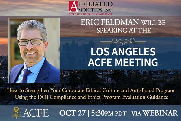 Eric Feldman Speaking at the Los Angeles ACFE Meeting on October 27th